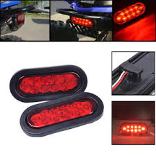 flush mount trailer lights 2 trailer truck red led flush mount 6 oval stop turn tail light