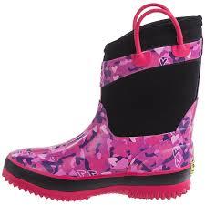 western chief camo neoprene rain boots for little and big girls