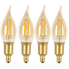 Led Light Bulbs With Candelabra Base by Globe Electric 40w Equivalent Soft White 2200k Vintage Edison