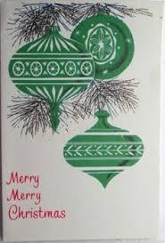 1950s mid century modern santa tree ornaments vintage