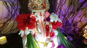 Flower Decoration At Home by Ganesha Decoration At Our Home Youtube