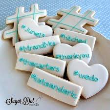 decorated sugar cookies for weddings wedding ring cookie favor