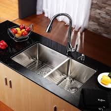 Kitchen  Double Bowl Corner   Kitchen Sink Pictures - Triple sink kitchen