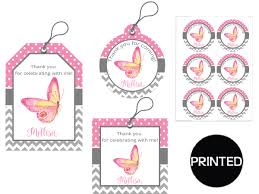 printed butterfly kisses and baby wishes baby shower