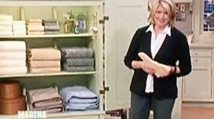 video linen closet tips martha stewart