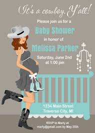 cowboy baby shower invitations country by announceitfavors