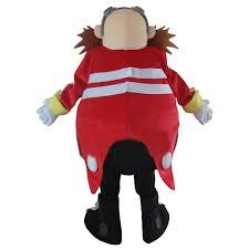 Sonic Halloween Costume Yellow Doctor Sonic Hedgehog Mascot Costume