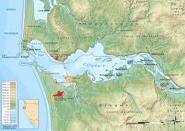 Map Of Colombia Columbia River Estuary Wikipedia