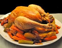 roast chicken vegetables