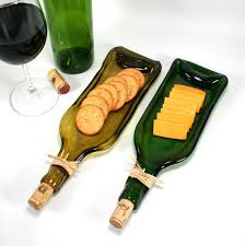 wine bottle cheese trays green wine bottle serving tray or spoon rest with cork