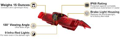 ford transit connect rear top third brake light l rvs 913 chevy express third break light camera rear view safety