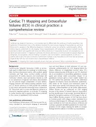 cardiac t1 mapping and extracellular volume ecv in clinical
