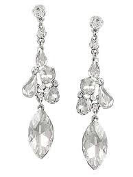 rhinestone chandelier earrings clear chandelier drop earrings blue velvet vintage