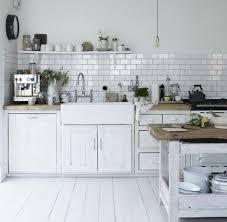 cuisine bois blanche cuisine blanc bois