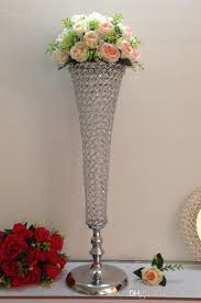 Florist Vases Wholesale Flower Pot Wedding Decorations Crystal Tall 456 Glass Vase For