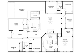 4 bedroom one story house plans modern house plans 4 bedroom plan one bedroom open floor small
