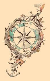 briliant nautical compass tattoomagz