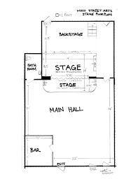 stage floor plan tech info mayo street arts