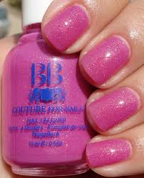 buy cool pink purple with small glitter nail polish for girls