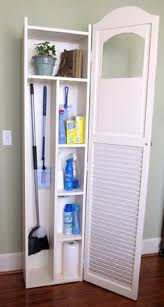 Broom Closet Cabinet Broom Closet Or Other Slim Storage For The Home Pinterest