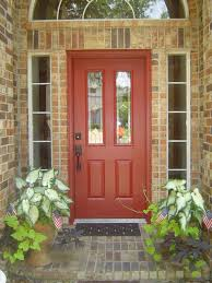 exterior wood door decorating with paint to personalize front