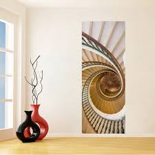 diy 3d spiral staircase wall stickers diy mural bedroom home decor
