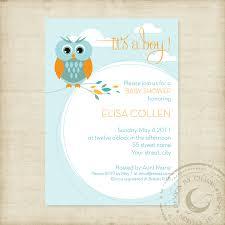 baby shower invitation template owl theme boy or boys