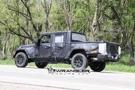 2018 jeep wrangler pickup brute jt wrangler truck testing on public roads shows spare tire mount