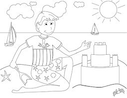 tropical beach coloring pages beach coloring pages