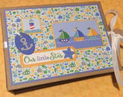 nautical photo album nautical mini album etsy