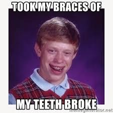 Nerdy Kid With Braces Meme - took my braces of my teeth broke nerdy kid lolz meme generator