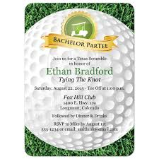 bachelor party invitation golf golfing theme golf ball grass