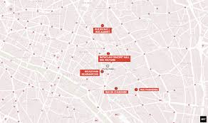 Paris France On A Map by Paris Attack Map Location Of Bataclan Hostages Stade De France