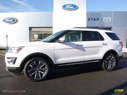 Ford Explorer Platinum - 2016 white platinum metallic tri coat ford explorer platinum 4wd