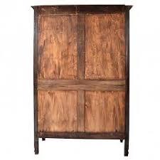 Door Armoire Antique French Provincial Oak Louis Xv Mirrored Door Armoire Wardrobe