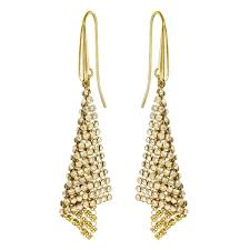 gold earrings uk swarovski fit gold gold mesh small earrings 5143060