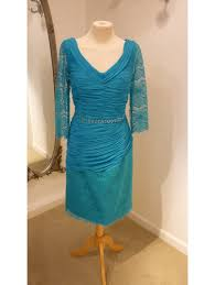 zeila 3019292 jersey and lace dress turquoise