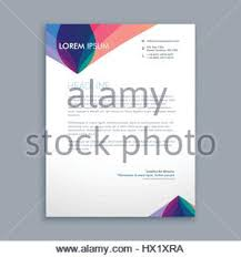 Business Letterhead Design Vector Creative Colorful Letterhead Template Vector Design Illustration