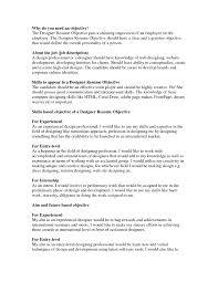 Graphic Designer Resume Objective Writing A Great Objective For Resume Free Resume Example And