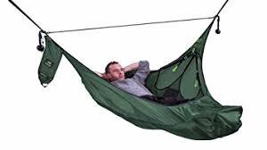 amazon com amok equipment flat lay camping hammock with mosquito