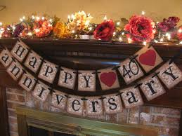 Anniversary Centerpiece Ideas by Silver Wedding Anniversary Banner Can Custom Heart Ribbon To