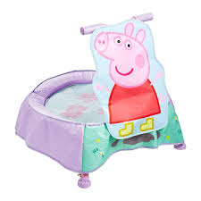 amazon com peppa pig toddler trampoline with sounds toys u0026 games