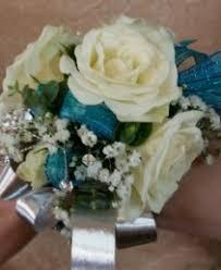 Teal Corsage Prom Flowers Anderson Florist Tillamook Or