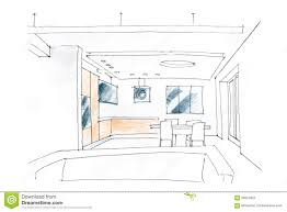 living room interior sketch stock photo image 56524822