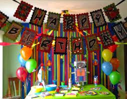 birthday birthday surprise decoration ideas amazing of robot
