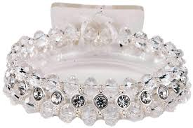 clear faceted dazzle tiny dancer wrist corsage bracelet corsage