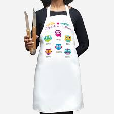 my are a hoot personalized owl apron monogram