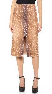 carven deer print split skirt shopbop
