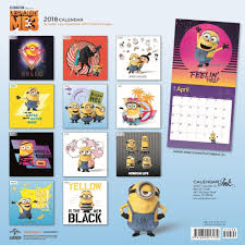 amazon com 2018 despicable me 3 wall calendar office products