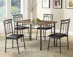 chair a metal dining room marble top table and chairs for small